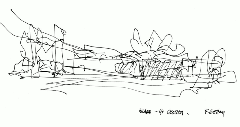 Frank Gehry's Sketch of the Guggenheim Museum